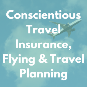 Conscientious travel insurance, flying & travel planning